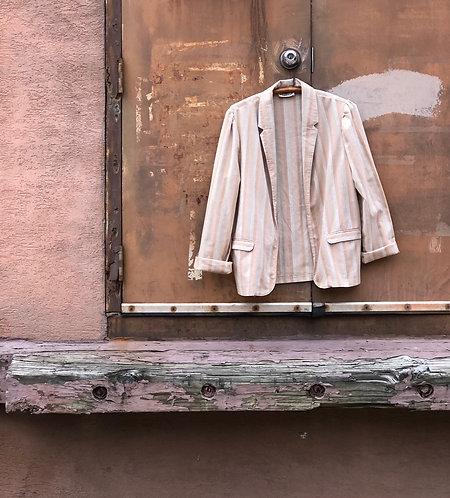 Vintage 60's Striped Linen Blazer