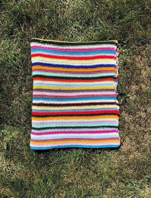 Vintage Crocheted Afghan Blanket