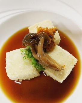Agedashi Tofu with Shimeji Mushrooms
