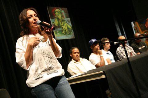 Leila speaks on the panel
