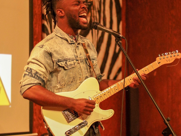 Nigerian Singer/Songwriter/Guitarist Ujah performs at Change the Tune