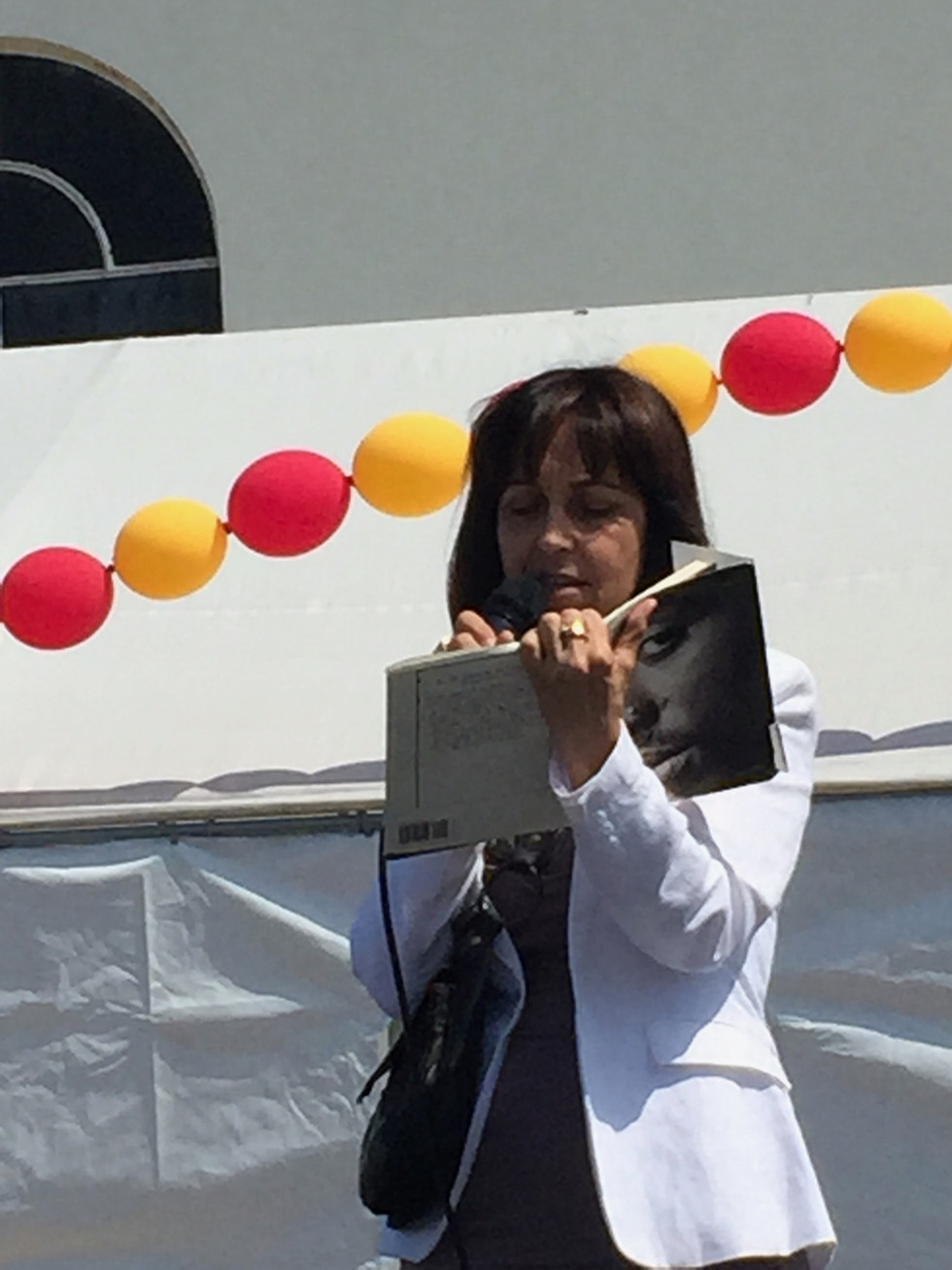 Founder, Leila Steinberg at Hopics Trauma Center's, Expressive Arts Festival.