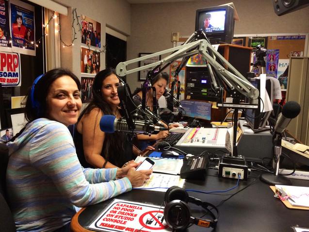 Marisol & Leila being interviewed by Sunny Aloha in Oahu, Hawaii