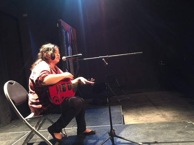 Singer Colleen Moevao performs at the Long Beach HeART Sessions