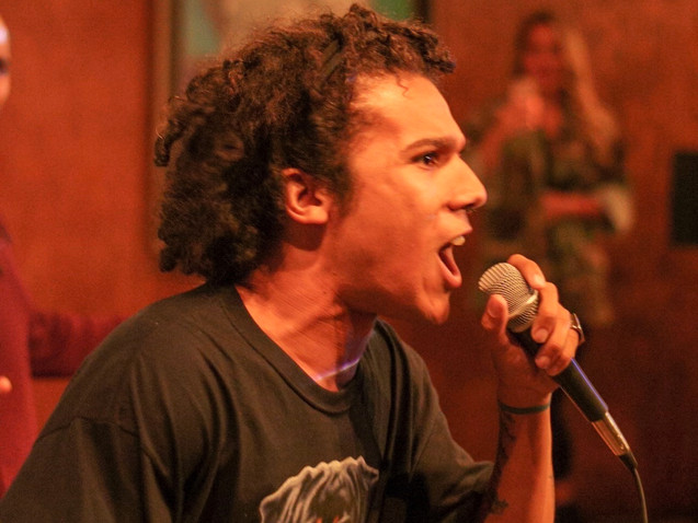 LA Based Rapper and Producer Rhythm performs during The Mic Sessions