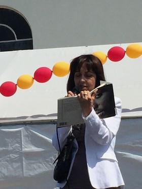 Leila Speaks at Expressve Arts Festival hosted by Hopics Trauma