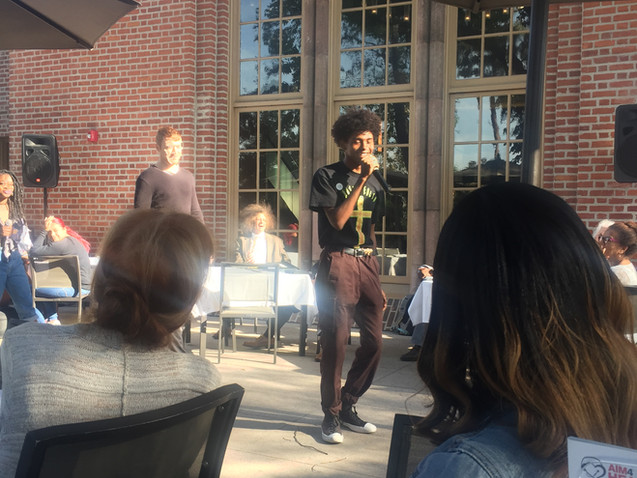 Rappers Clash and Spencer performs at USC Race, Rap and Redemption
