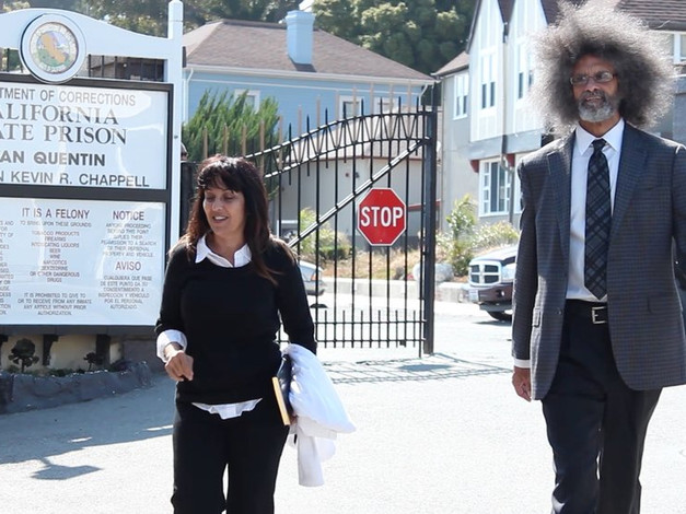 Leila and Jody Armour visit San Quentin State Prison