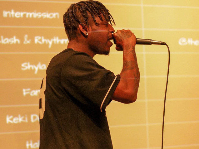 Los Angeles Rapper Ronnie D performs at Change the Tune