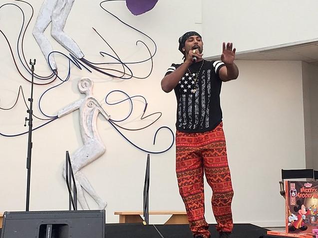 Aim Member Louii King Performs at African American Musuem