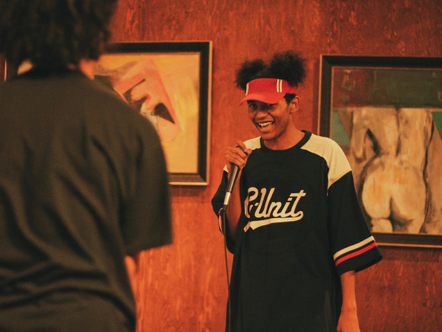 Long Beach Rapper Clash performs during The Mic Session