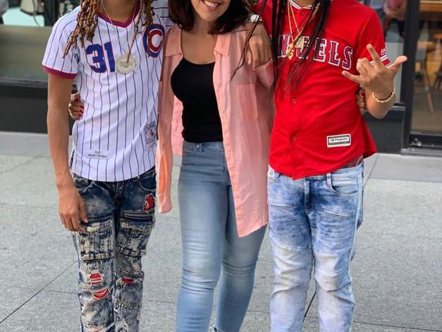 Leila with Rappers Jitt & Quan