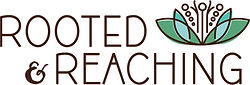 Rooted and reaching logo