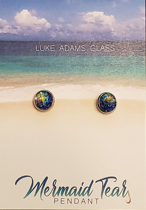 Mermaid Earrings (blue) - ONLY 2 LEFT!