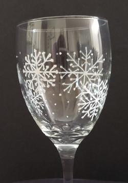 Snowflake wine glass home page