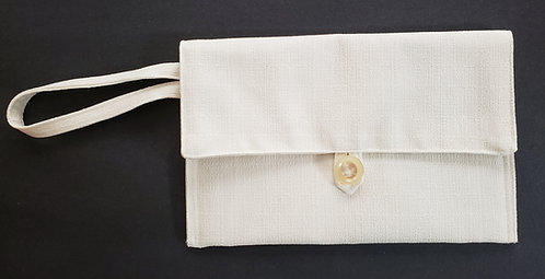 White Clutch Bag with Wrist Strap 2 - only 1 available!