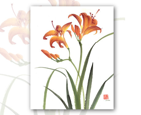 Day Lily Gift Card