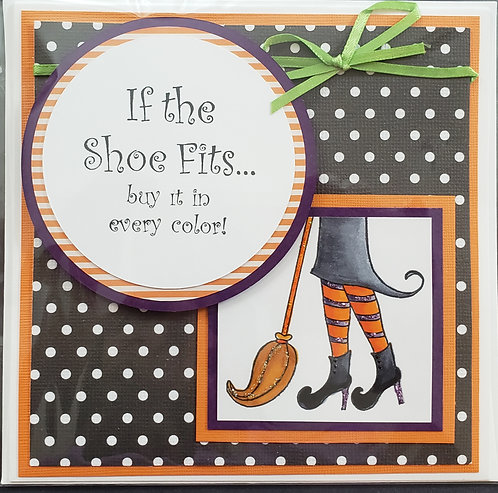 Halloween Shoe Card - only 1 available - NEW!