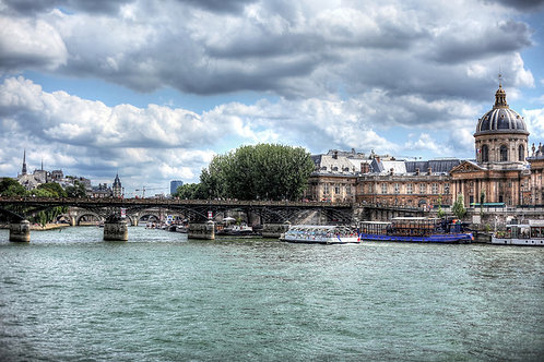 On the Banks of the Seine River in Paris, France