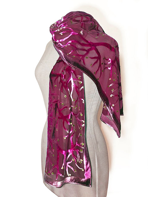 Berry Branches Small Scarf