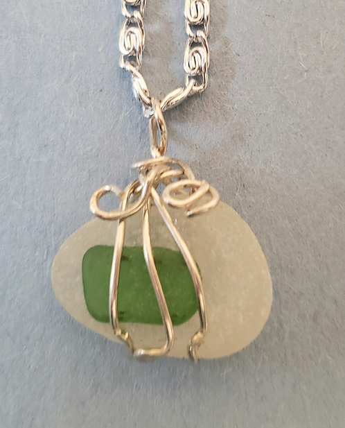 Small Sea Glass Necklace 3