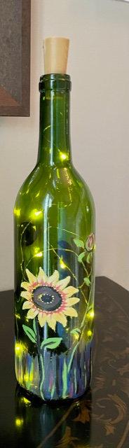 Lighted Sunflowers Bottle - NEW!