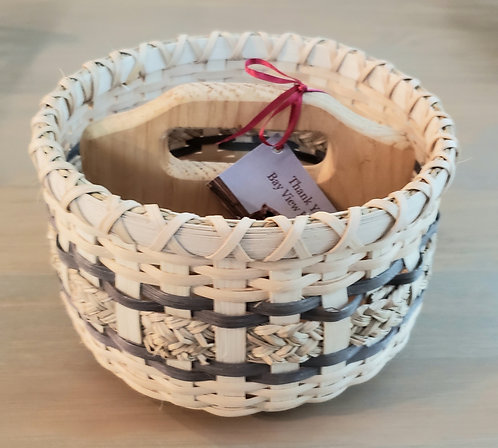 Divided Round Basket (green) - NEW!