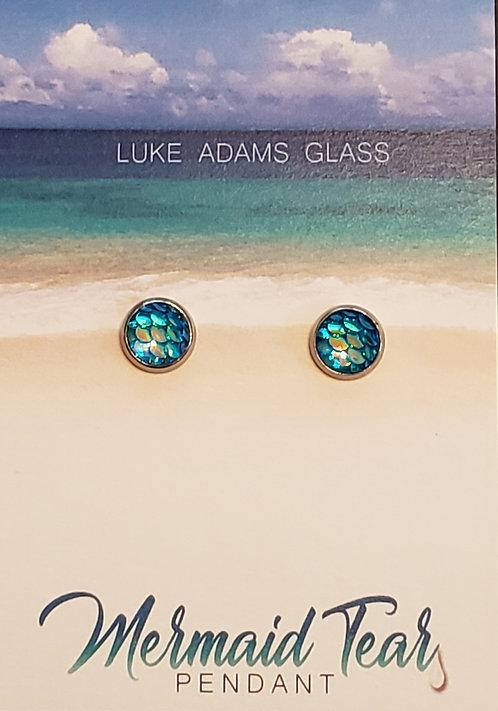 Mermaid Earrings (teal) - ONLY 1 LEFT!
