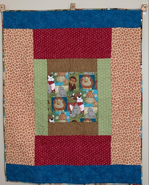 Jungle Babies Baby Quilt - NEW!