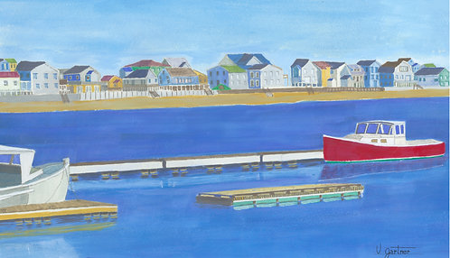 Wells Harbor, Maine - Illustr./Graphic art Print
