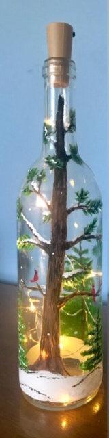 Lighted Winter Scene Bottle