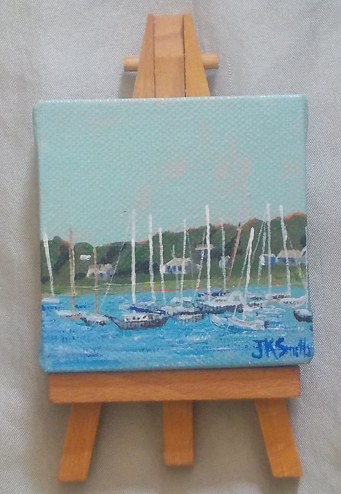 Harbor Mini Canvas and Easel