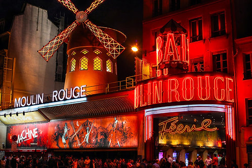 The Moulin Rouge in Paris, France