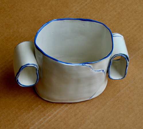 White and Blue Casserole Dish