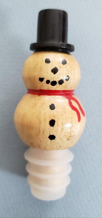 Snowman Wine Bottle Stopper