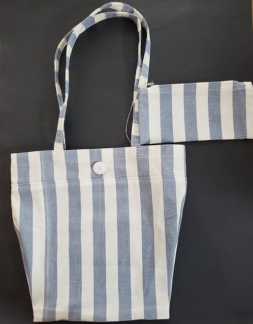 Striped Market Bag with Matching Purse - NEW!