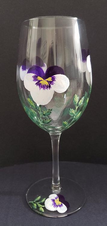 Pansy Wine Glasses (2)
