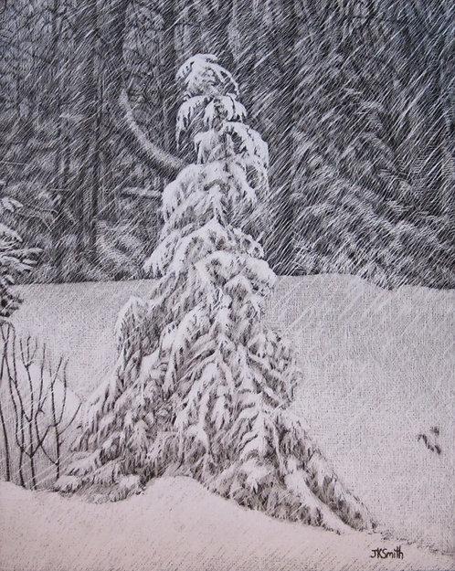 Snow on Hemlock (original)