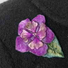 Velvet Flower Pin and Hairclip - Berry - NEW!