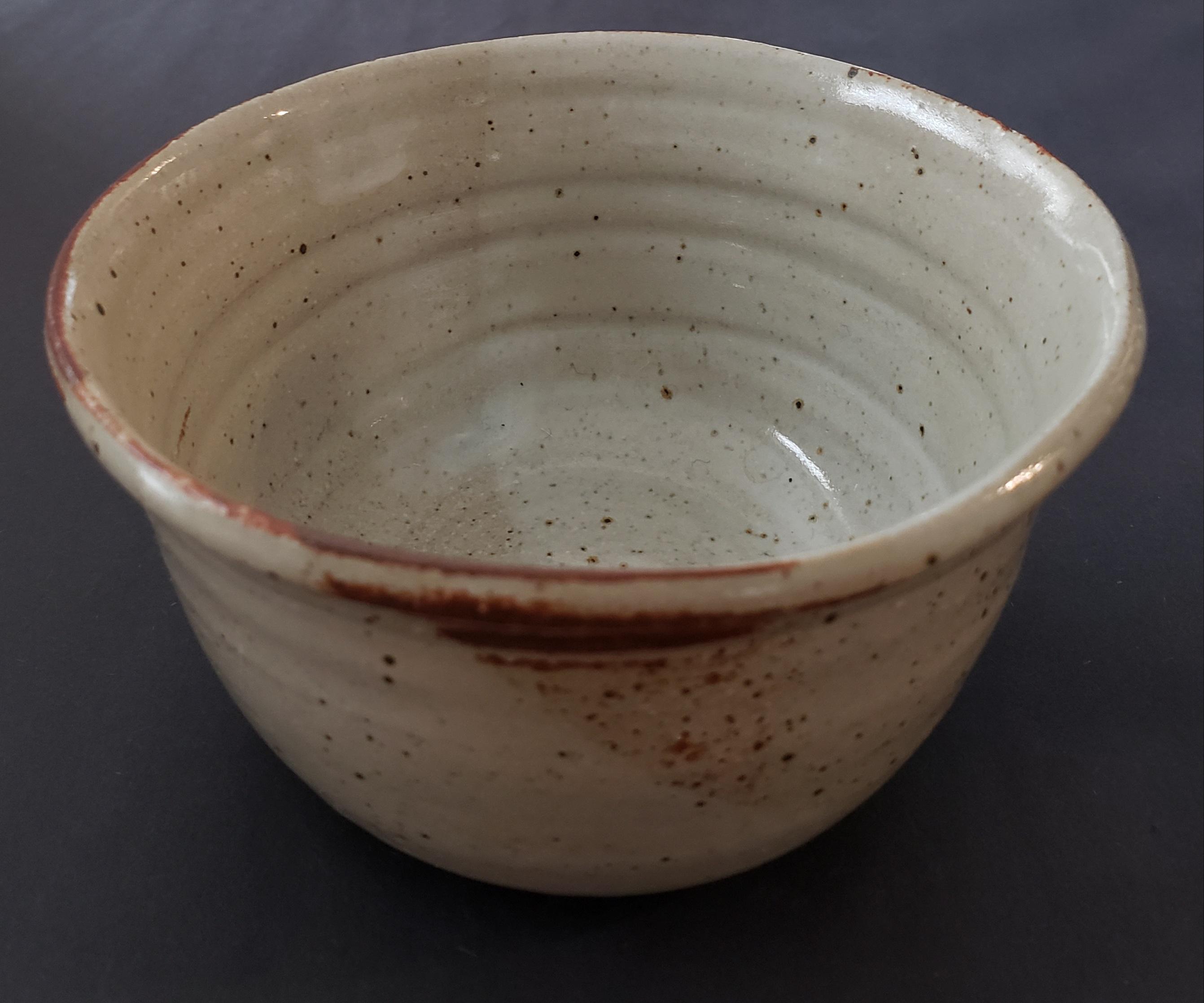 Tan rust small bowl