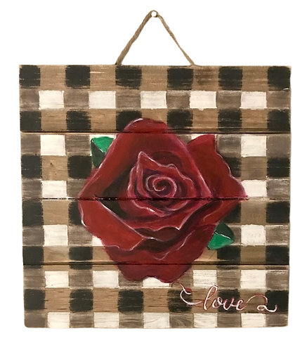 Rose Wooden Panel