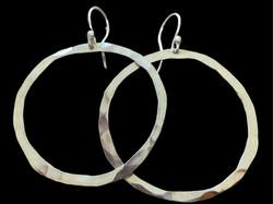 Small Hammered Hoop Earrings FB