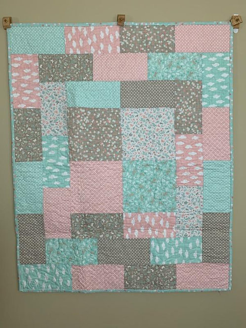 Pink Clouds Baby Quilt