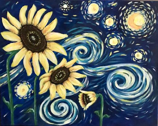 Van Gogh inspired sunflower