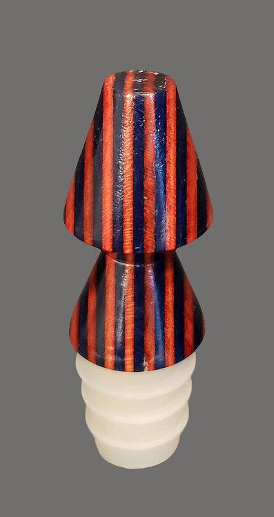 Striped Bottle Stopper - only 1 left!