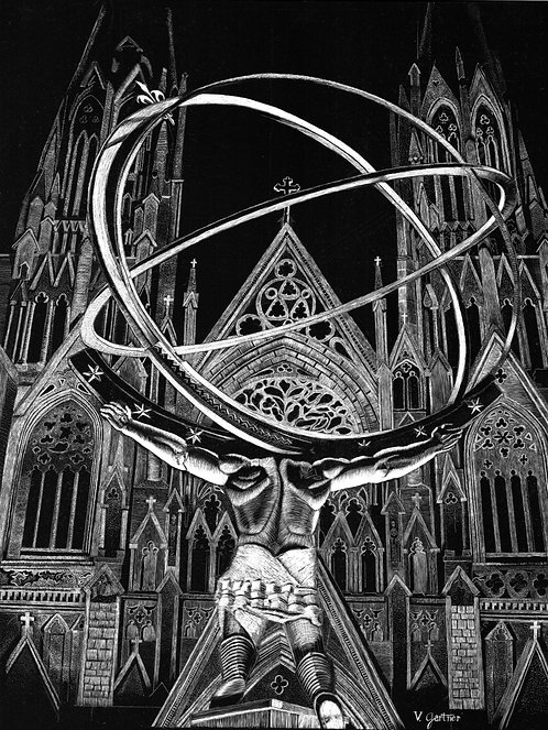 Atlas Before the Cathedral Print