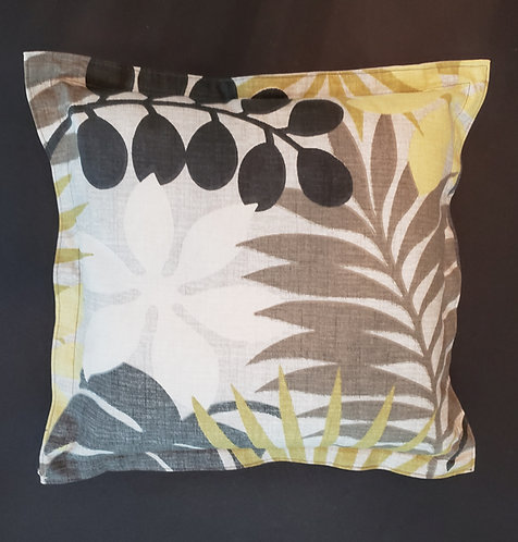 Palm Leaves Motif Pillow with Washable Cover - only 1 available -NEW!