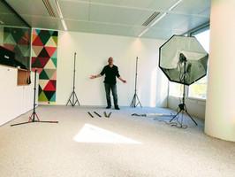 Eli Azoura Photographe, préparation d'un shooting sur site