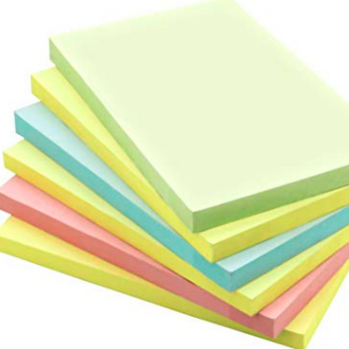 "Self-Stick Note Pads 4"" x 6"""