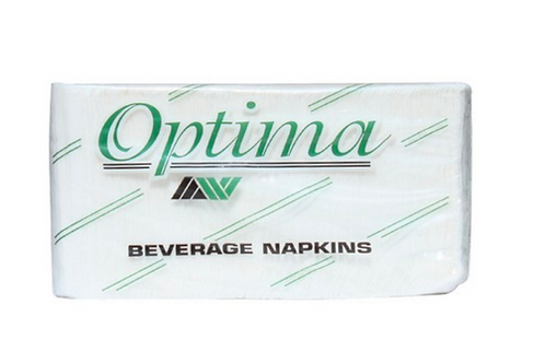 Beverage Napkin White 1-Ply